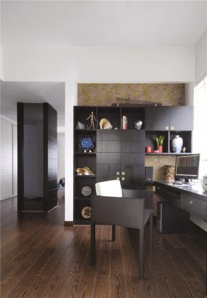 黑色搭配简易书柜