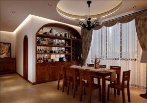 实木中式酒柜定做