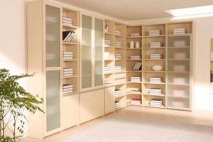 转角书柜效果图