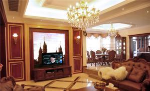 背景墙电视柜实拍图