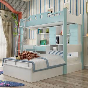 儿童组合床卧室上下床装修效果图大全