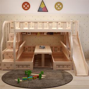 多功能箱体双层上下床创意儿童房