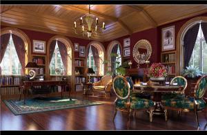 简欧书房装修效果图颜色搭配