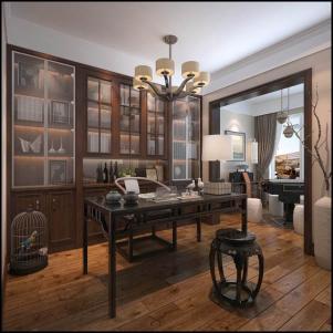 中式书柜室内设计