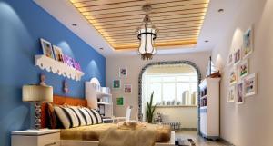 硅藻泥儿童房效果图全空间布置