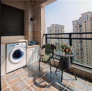 高层楼房洗衣机放阳台效果图