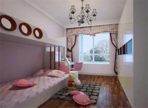 公主房卧室高低床装修效果图