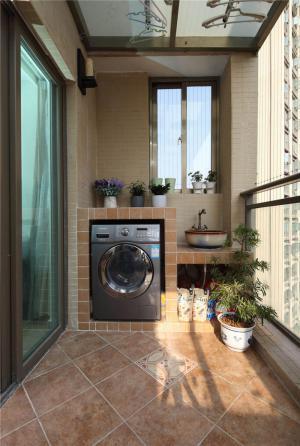 阳台洗衣池效果图免费设计