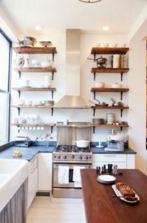 最新小阳台改厨房效果图