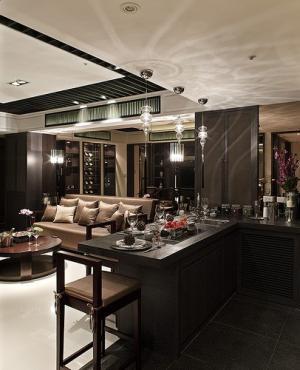 客厅酒柜装修吧台设计