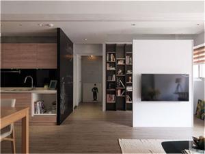 开放式卧室电视背景墙