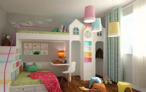 美式双人儿童房