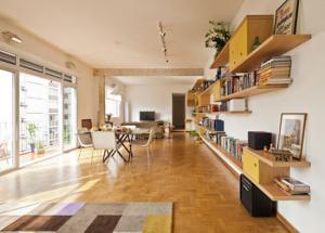 创意客厅书柜墙