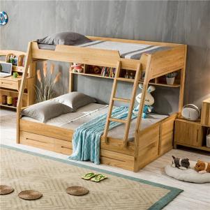 全实木北欧儿童房设计上下床