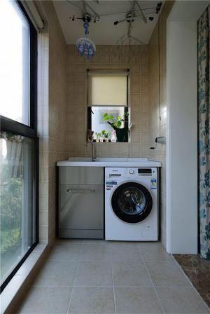阳台改造效果图洗衣池装修