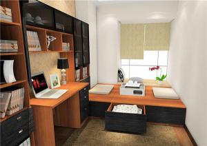 现代榻榻米书房板材家具