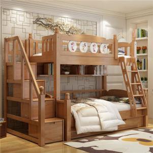 美式组合实木家居上下床