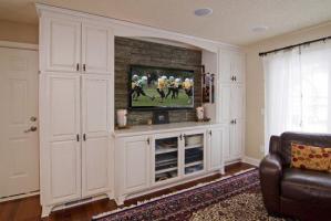 小复式美式电视背景墙