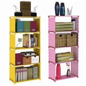 加固钢管折叠书柜
