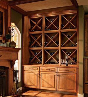 整体美式酒柜