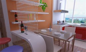开放式厨房橱柜装修实景图