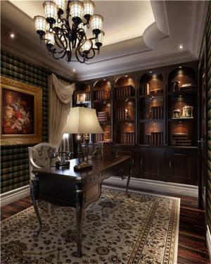 小书房装修效果图简欧家具