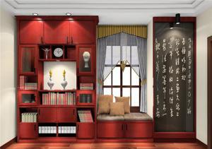 中式风格特色窗台榻榻米
