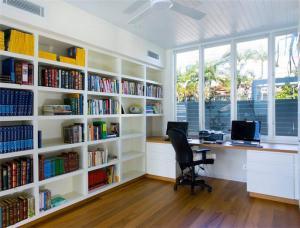 创意书柜卧室背景墙