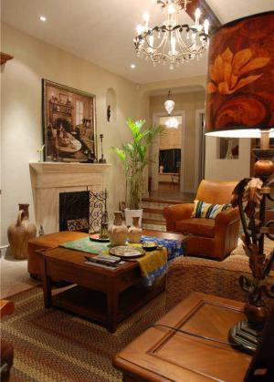 客厅大茶几装饰