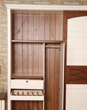 美式象牙白衣柜