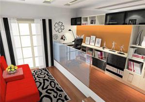 现代榻榻米房间地台书房设计