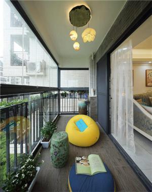 高层阳台封闭效果图改造成休闲区