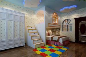 大胆设计儿童房双层床效果图