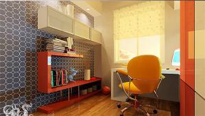 书房布置效果图家具设计