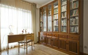 高清无水印书房中式书柜