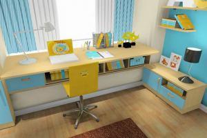 利用飘窗书桌设计