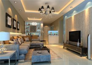 公寓背景墙电视柜