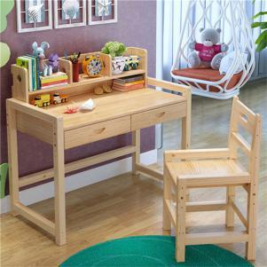松木课桌学习桌