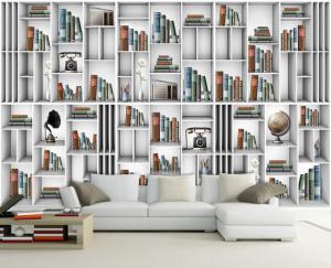 客厅书柜墙收集