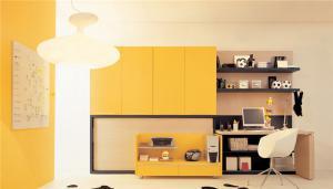 黄色组合书桌