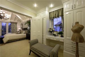 卧室床与梳妆台