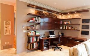 客厅转角开放式书房装修效果图