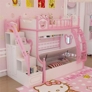 韩式套房儿童房双层床效果图