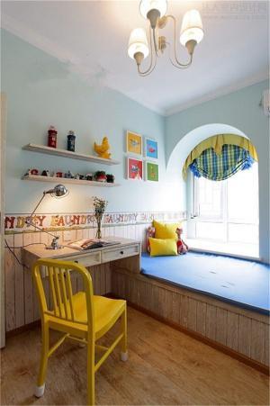 儿童房家装样板间榻榻米装饰