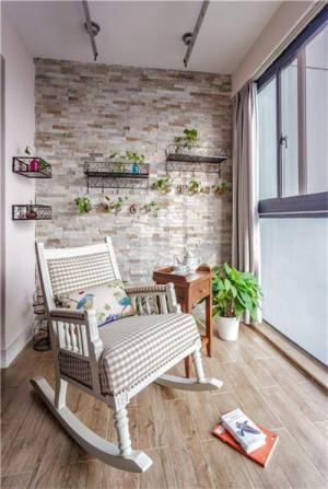 美式风格阳台效果图休闲椅
