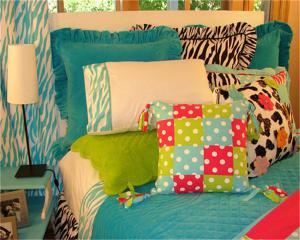 儿童房家装样板间床品搭配