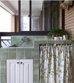 洗衣机放阳台效果图布罩