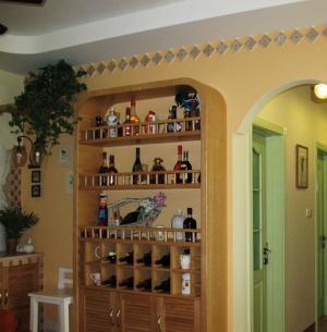 家装酒柜设计实木家具