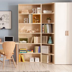 卧室书柜与衣柜组合