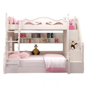 粉色公主双层上下床